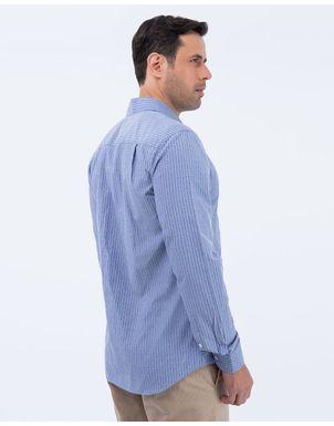 Camisa-Piedro-Larga-Hombre-Azul