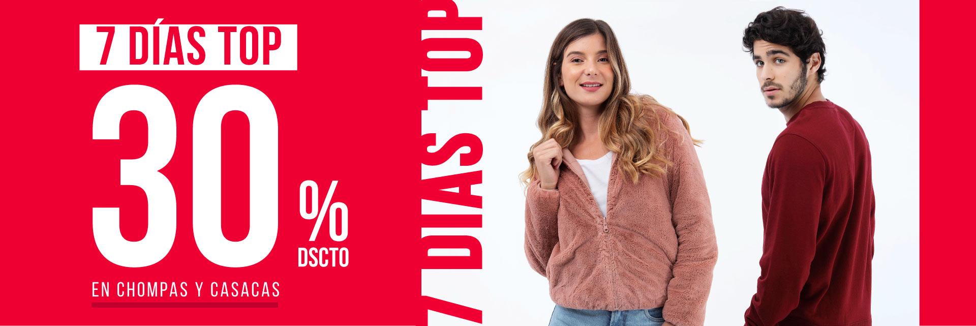 Chompas y casacas 7 días top