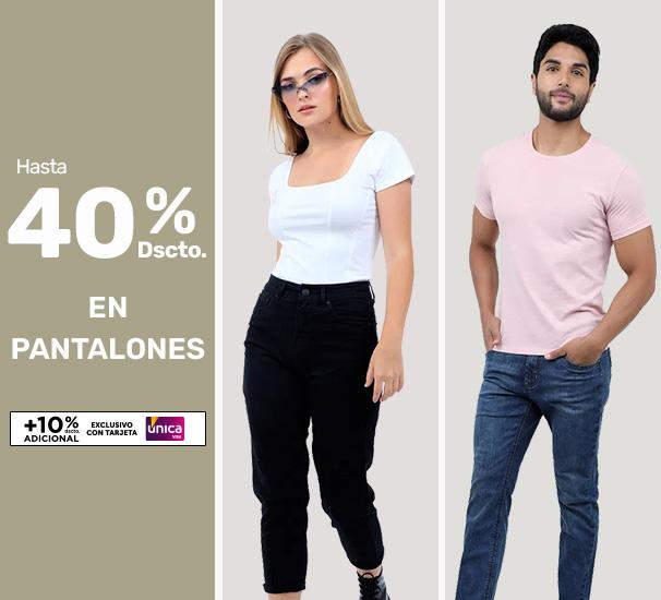 Hasta 40% en pantalones